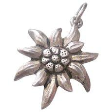 Vintage 800 Silver Flower Charm/Pendant