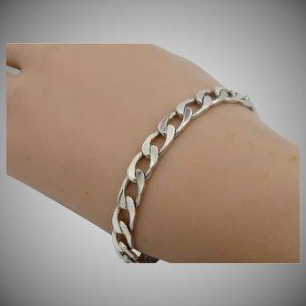 Vintage Men's 1970 Sterling Silver Bracelet