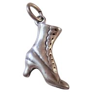 Darling Victorian Style Sterling Silver Boot Charm