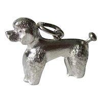 Vintage 3-D Sterling Silver Poodle Charm
