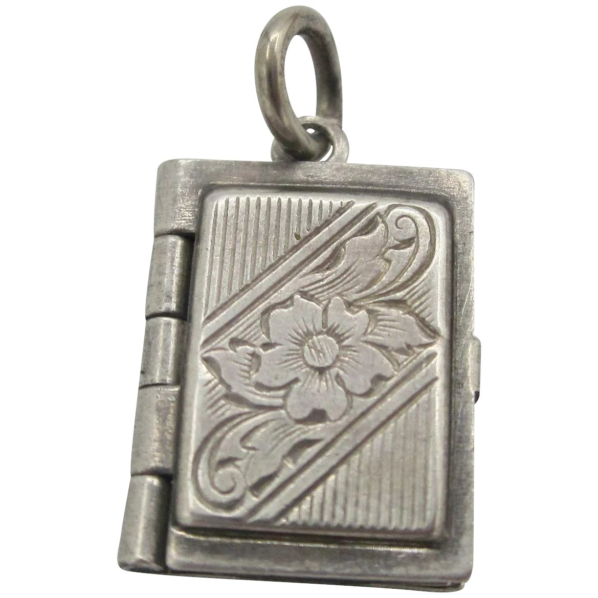 Vintage Sterling Silver Initial S Charm or Pendant