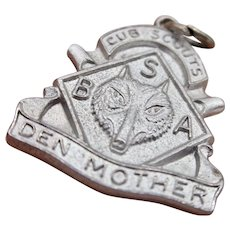 Sterling Silver Cub Scout Den Mother Pendant/Charm
