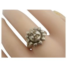 Vintage Early 70's Sterling Silver Poison Sun Ring