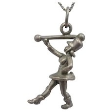 Vintage Sterling Silver 3-D Marching Band Leader Charm/Pendant