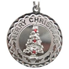 Vintage 1965 Sterling Silver 3-D Christmas Tree Pendant/Charm