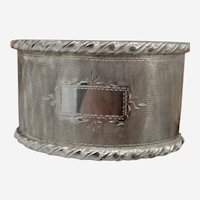 Antique European  800 Silver Napkin Holder