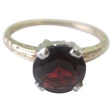 Lovely Victorian Platinum 14K YG 1.25tcw Garnet Ring