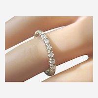European 14K White Gold Eternity Ring With .77tcw Diamonds