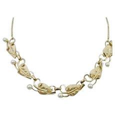 Elegant Vintage 14K-Gold-filled Cultured Pearl Necklace Early 60's