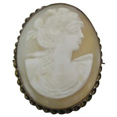 Delightful Antique Oval Cameo Brooch/Pendant Mid-1800's