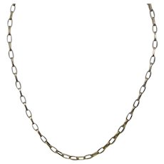 Vintage Italian Sterling Silver Unisex Cable-Link Chain With Gold Vermeil