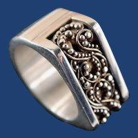 Estate Sterling Silver Unisex Designer Ring Hallmarked Lois Hill
