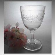 """EAPG 8 oz. Goblet """" Barley"""" ca. 1880s"""