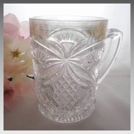 EAPG Mug Pattee Cross U.S. Glass 15112, 1909