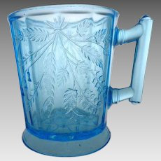 EAPG Duquesne aka Wheat and Barley Blue Mug 1880s