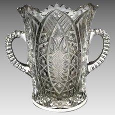 EAPG Madora aka Arrowhead in Oval Celery Vase c 1906