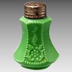1904-10 McKee FLOWER PANEL green Salt Shaker