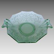 Fostoria Versailles Green Sweetmeat Elegant Depression Glass
