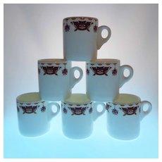 6 WEDGWOOD Bone China Hotelware Restaurant Ware Demi-tasse Cups Made in England