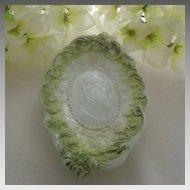 "Original 1900s Fostoria Jenny Lind 6"" trinket dish pin tray"