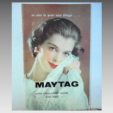 Booklet Maytag Washing Machine ca. 1960s 17 pages