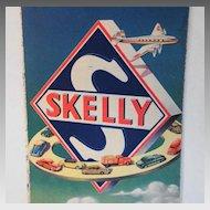 Nebraska Map Skelly Oil vintage Propeller Airplane & Cars