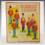 THE SCARLET LEGION Milton Bradley Game and/or Paper Cardboard Soldier Doll Set
