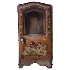 19th Century French Vernis Martin Sedan Chair Watch Holder
