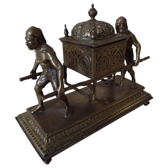 19th Century Brass Novelty Blackamoor Inkwell