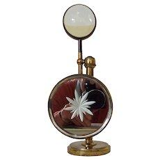 Victorian Bullseye brass table Magnifier