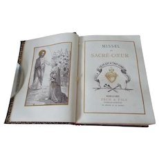 A French Leather Bound Missel Book C 1902