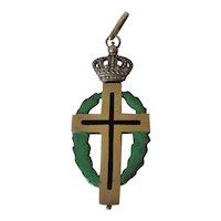Metal and Enamel Crucifix C 1900