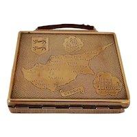 Vintage Mascot Handbag Shaped Cyprus Musical Compact