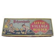 Schoenhut Little Village Builder Set from 1920's