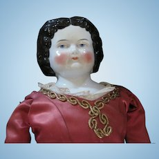 """23"""" China Head Doll with Layers of Lovely Clothes"""