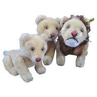 Steiff Lion Family