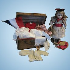 """12"""" Steiner Bebe with Trunk and Wardrobe"""