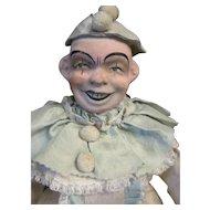 "14"" Policinelle Clown Papier Mache Doll"