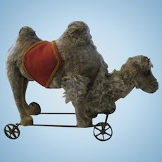 Antique Steiff Camel on Metal Wheels, ca. 1892
