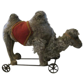 Antique Steiff Camel on Metal Wheels, ca. 1892