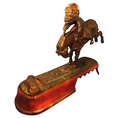 "Antique Cast Iron Mechanical Bank ""I Always Did 'Spise a Mule"" by J. E. Stevens"