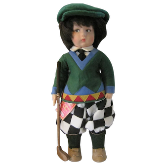 "20"" Lenci Felt ""Plucy"" The Golfer"
