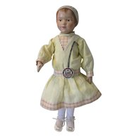 "Schoenhut 14"" Carved Bonnet Head Doll--Restored by Frank Mahood"