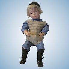Schoenhut 16/404 Wooden Doll, Dressed as a Baseball Player