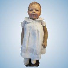 "13""  Kathe Kruse Schlenkerchen--Very Rare Smiling Baby"