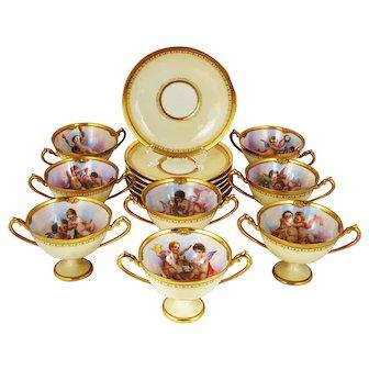 Dresden Ambrosius Lamm Soup Bouillon Cups set of 8