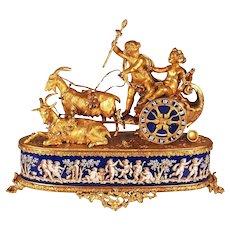 Antique French Gilt Bronze Mantle Clock signed Alph Giroux