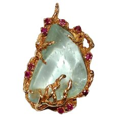 Arthur King Pendant Jewelry Freeform 18K Gold Ruby
