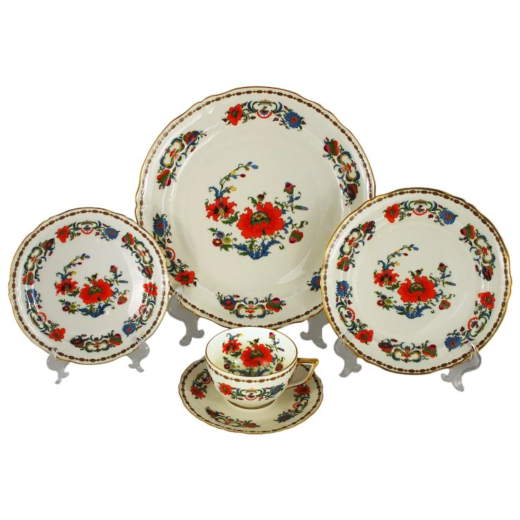Vintage Limoges Dinner Service for 8, Ceralene Vieux Chine Pattern ...