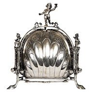 Antique Silver Muffin Bun Warmer Germany, 19th Century